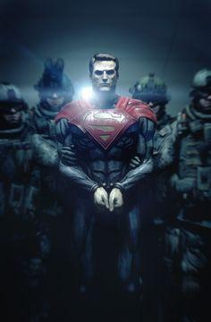 Superman-Injustice: Gods Among Us. (Man of Steel style)