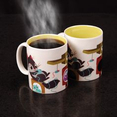 Kitties appear when the cup gets hot!