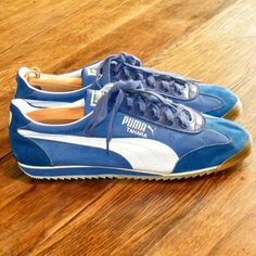 Shop for shoes on Etsy, the place to express your creativity through the buying and selling of handmade and vintage goods. Vintage Sneakers, Classic Sneakers, Vintage Shoes, Vintage Men, Puma Sneakers, Shoes Sneakers, Men's Shoes, Yoga Shoes, Running Shoes