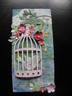 Bird in a cage..I need to buy this die cut. Love it.