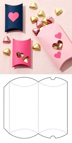 Box for sweets in pink - Pink Box, - Basteln - Origami Diy Gift Box, Diy Box, Diy Gifts, Making Gift Boxes, Valentines Bricolage, Valentines Diy, Paper Gifts, Diy Paper, Diy And Crafts