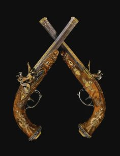 Pistols - a goodbye gift from Napoleon Bonaparte to his son. 24th of January 1814, few days before the battle of Brienne