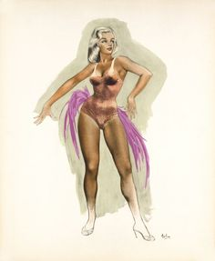 Pin-up aux plumes by Aslan / 1965