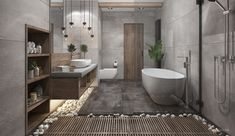 Ideas For Zen Bathroom Design Bad Inspiration, Bathroom Inspiration, Design A Space, House Design, Door Design, Shelf Design, Storage Design, Contemporary Bathroom Designs, Contemporary Shelves