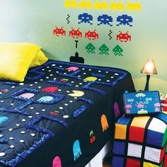 Retro Game Themed Bedroom