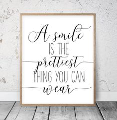 A Smile Is The Prettiest Thing You Can Wear Motivational | Etsy