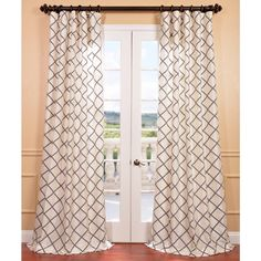 Uplift your windows with this beautiful pearl faux silk curtain panel. The geometric shapes on this curtain panel will be sure to add style and class to any room.
