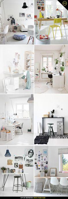 DIY INSPIRATION | White Studio Floors