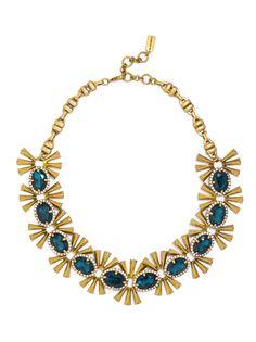 Emerald Asterisk Collar Necklace   BaubleBar