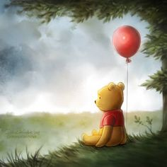 After Disney's Christopher Robin movie my first feeling was. That's truly sad movie - maybe only for me. Winnie the Pooh Winnie The Pooh Drawing, Cute Winnie The Pooh, Winnie The Pooh Quotes, Winnie The Pooh Friends, Winnie The Pooh Pictures, Cute Disney, Disney Art, Disney Christopher Robin, Le Vent Se Leve