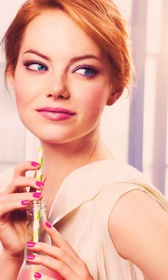 Emma Stone - My celebrity crush....my father-in-law wants to adopt her. Haha funny stuff.