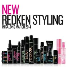Redken product lines new look- these were such a blast to experience as a model and see the stylists have fun with them!