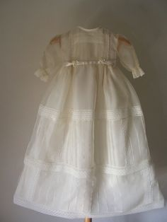 Aristocratic handmade christening gown with bonnet by ExquisiteDesignRS inDaWanda.com