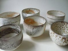 Wonky little handmade stoneware bowls.