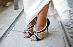 Style File Diva bride Dayna even swapped out her shoes for her reception party. We love her style!