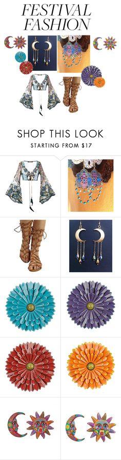 """Gypsy Festival Fashion"" by redgypsyjewelry on Polyvore featuring Roberto Cavalli, NOVICA and festivalfashion"
