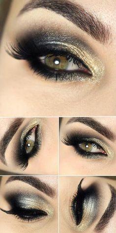 Tutorial makeup with shadow trio of multi-effect Una Natura