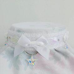 The 'Angelic' choker ✨ ✨ Shop now at etsy.com/shop/PastelPunkDoll ✨  #chokers #choker #necklace #cute #kawaii #pastel #harajuku #palegrunge #collar #fairykei #kittenplay  #crystals #harajukufashion #lolita #jfashion #softgrunge #kawaiigirl #kawaiifashion #magicalgirl