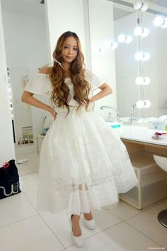 Namie Amuro / Magazines / 2014 / Vivi (July) / Making of Prity Girl, Forest Girl, Japan, Girl Fashion, Womens Fashion, Gorgeous Women, Asian Beauty, Cool Girl, Party Dress