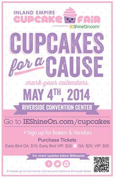 Cupcake Fair - May 4th -http://inlandempire.us/2nd-cupcake-fair/
