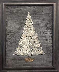 Inspiration: White Beach Sea Glass Tree 18 x 22 Framed Sea Glass Crafts, Sea Glass Art, Seashell Crafts, Beach Crafts, Sea Glass Jewelry, Clear Glass, Frosted Glass, Stained Glass, Sea Glass Beach