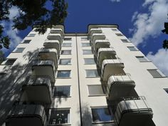 Putsade fasader på Gärdet, Stockholm Stockholm