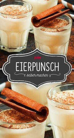 eggpunch - A great recipe for a delicious homemade egg punch! The delicious drink is perfect for occasions dur - Halloween Breakfast, Halloween Dinner, Halloween 2020, Easy Halloween, Yummy Recipes, Dessert Recipes, Dinner Recipes, Desserts, Eggnog Ingredients