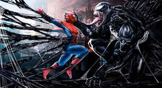 Venom star Tom Hardy shared an image of the extraterrestrial anti-hero devouring Spider-Man teasing a possible crossover. Venom Spiderman 3, Marvel Venom, Spiderman Art, Amazing Spiderman, Michael Keaton, Man Wallpaper, Wallpaper Backgrounds, Marvel Wallpaper, Tom Hardy