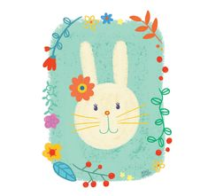 #bengigencer #bunny #rabbit #drawing #easter #spring #summer #illustration #children #roomdecor #poster