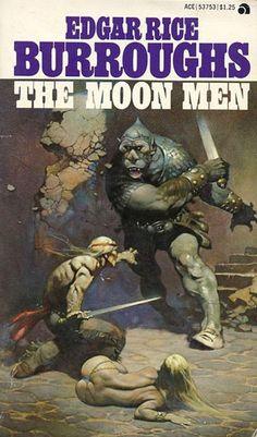 FRANK FRAZETTA - art for The Moon Men by Edgar Rice Burroughs - Ace Books