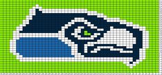 Seahawks Logo Chart for knitting, crochet or counted cross stitch.