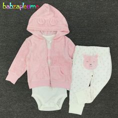 9e1772ab0761d babzapleume spring autumn newborn tracksuit baby boys girls clothes cute  hooded jacket+bodysuit+pants infant clothing set BC1102-in Clothing Sets  from ...