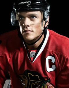 This picture is imporatnt to me because Jonathan Toews is my favourite hockey player. Toews is also someone I look up to every time I lace up the skates, he wears number 19 and so do I. D.B