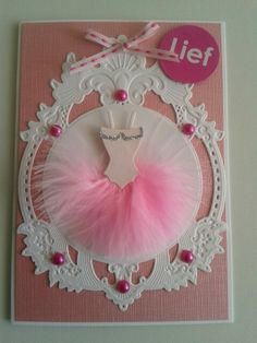 Voor een lief meisje met rose ballerinajurk.
