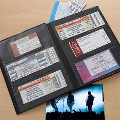 My Concerts Personalized Ticket Album (Inside)