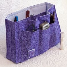 free sewing wallet patterns | pdf Sewing Pattern Purse Organizer Insert by SweetbriarStudio
