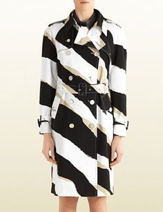 GUCCI Zebra Print Trench Coat