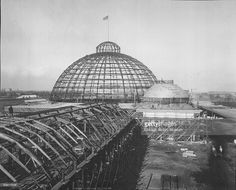 Construction of the Horticulture Building at the World's Columbian Exposition - February 1892 Chicago School, Chicago City, World's Columbian Exposition, Chicago Pictures, Chicago History Museum, American Exceptionalism, Historical Architecture, Vintage Architecture, White City