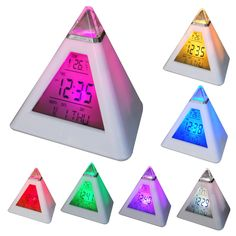 Play.com - Buy DIGIFLEX 7 LED Pyramid Colour-Changing Digital Alarm Clock online at Play.com and read reviews. Free delivery to UK and Europe!
