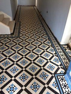 We supplay and instal Victorian tiles hallway in the London area, Victorian tiles London can supplay you whit correct Victorian tiles Victorian Tiles Bathroom, Victorian Mosaic Tile, Bathroom Floor Tiles, Tile Floor, Kitchen Floor, Tiled Hallway, Hallway Flooring, Modern Hallway, Mosaic Tiles