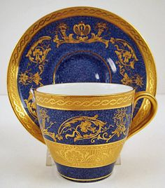 Antique Royal Doulton Demitasse Cup & Saucer