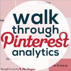 Walkthrough PinLeague's Pinterest Analytics