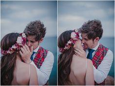 Pareja de novios enamorada el día de su boda. Fotografía de Serafín Castillo.