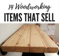 14 Woodworking Items that sell on Etsy and other handmade marketplaces. These ea… 14 Woodworking Items that sell on Etsy and other handmade marketplaces. These easy projects will get you started on your very own store. Woodworking Items That Sell, Easy Woodworking Projects, Woodworking Jigs, Easy Projects, Woodworking Furniture Plans, Woodworking For Kids, Carpentry Projects, Simple Wood Projects, Project Ideas
