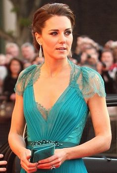Kate Middleton looking stunning as ever. The Duchess worked the red carpet at the BOA Olympic Concert dress in an emerald Jenny Packham pleated gown.