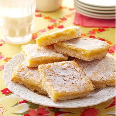 Homemade Lemon Bars Recipe -Memorable family meals were complete when these tangy bars were served, my husband remembers from his childhood. That's still true today for our family. Their sweetness rounds out the meal, but the lemony flavor keeps them light. Don't expect many leftovers once family and friends taste these bars! —Denise Baumert, Dalhart, Texas