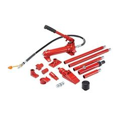 4 ton Heavy Duty Portable Hydraulic Equipment Kit from TNM by HF