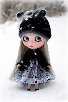 Black Velvet is so stylish in a snow storm!