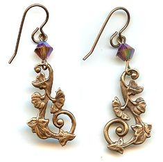 Twilight Garden Earring Design Made With Swarovski Crystals And Vintaj Nickle Free Br Jewelry Making