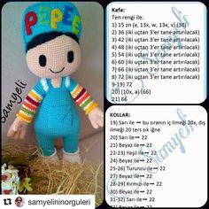 Amigurumi Toys, Amigurumi Patterns, Crochet Dolls, Crochet Yarn, Man Quilt, Crochet Doily Patterns, Stuffed Animal Patterns, Crochet Animals, Handmade Toys